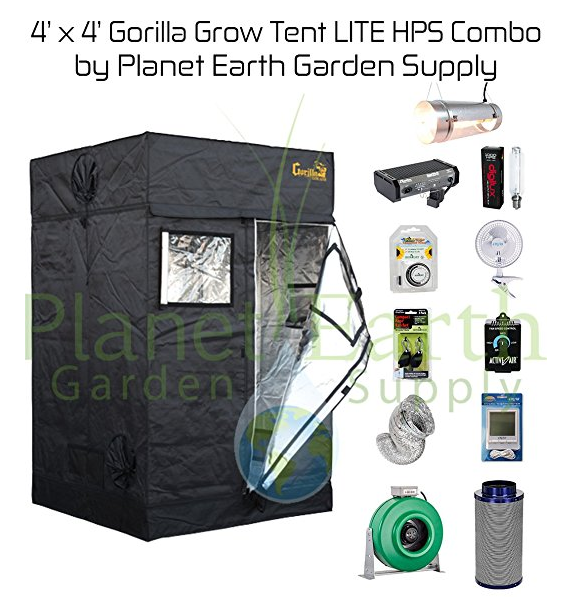 4u0027 x 4u0027 Gorilla Grow Tent LITE Kit 1000W HPS Combo Package  sc 1 st  LED Grow Lights & Updated 2018] Best LED Grow Tent Complete Kits Reviews