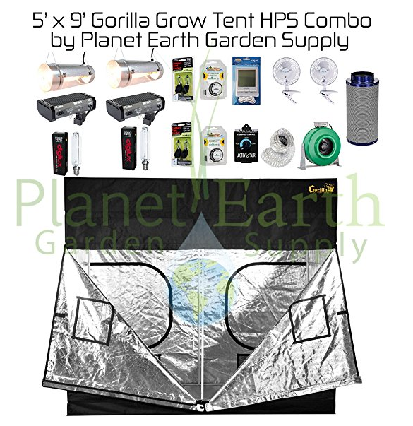 5u0027 x 9u0027 Gorilla Grow Tent Kit 2000W HPS Combo Package  sc 1 st  LED Grow Lights & Updated 2018] Best LED Grow Tent Complete Kits Reviews