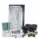 "HTG Complete 3 x 3 (39""x39""x79"") Grow Tent Package With 400-Watt HPS Grow Light"