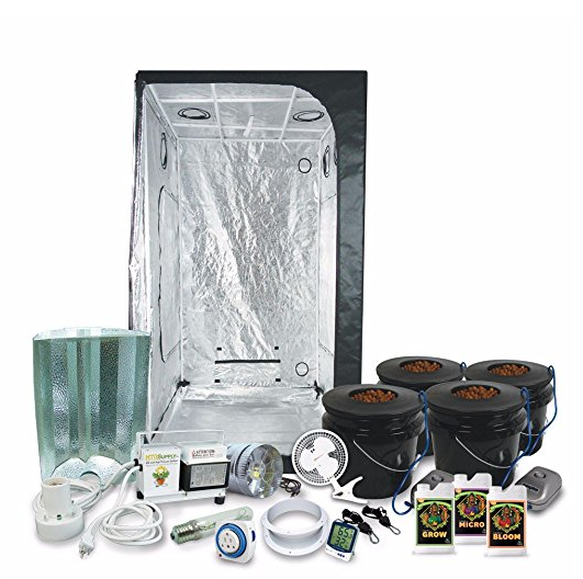 "Complete 3 x 3 (39""x39""x79"") Grow Tent Package With 400-Watt HPS Grow Light"