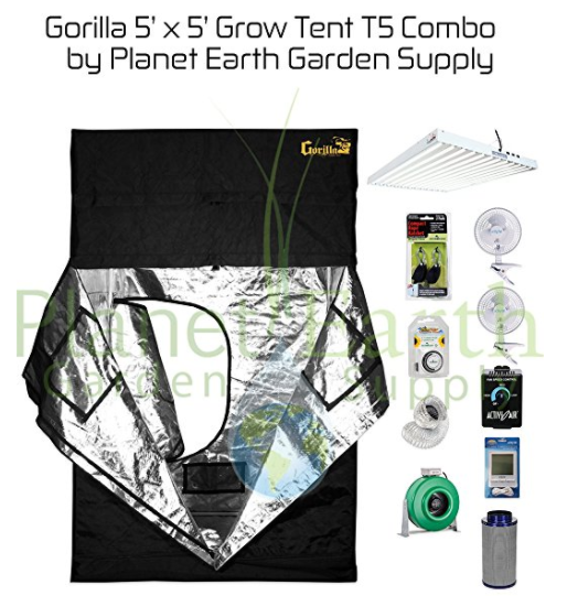 Gorilla Grow Tent T5 Combo Package  sc 1 st  LED Grow Lights & Updated 2018] Best LED Grow Tent Complete Kits Reviews