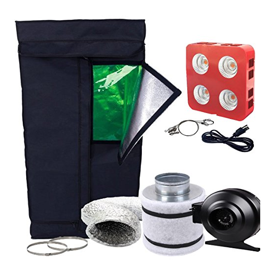 Oppolite LED Grow Light Tent Complete Kit Hydroponic Growing System