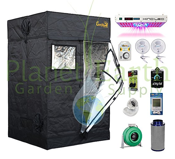 Gorilla Grow Tent LITE (4' x 4') LED Combo Package #1