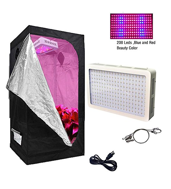 TopoGrow 600W LED Grow Light Kit